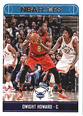 93aa0f00571 2017-18 NBA Hoops  57 Dwight Howard Charlotte Hornets Official Basketball  Card made by
