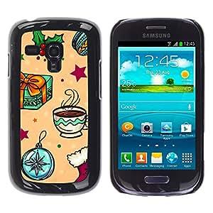 TopCaseStore / la caja del caucho duro de la cubierta de protección de la piel - Gift Merry Winter Kids - Samsung Galaxy S3 MINI NOT REGULAR! I8190 I8190N