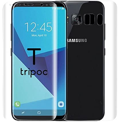 promo code 033e2 8d676 TRIPOC Samsung Galaxy s8 Front & Back Crystal Clear Screen Guard (Not  Tempered Glass) FOR Samsung Galaxy s8 [**Perfect Fit **Edge to edge  coverage]