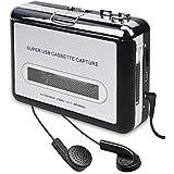Cassette Player Cassette Tape To MP3 CD Converter Via USB,Portable Cassette Tape Converter