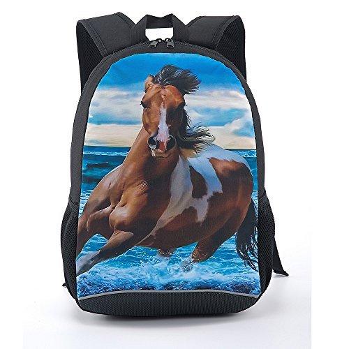 CARBEEN 17 Inch Horse School Bag Rucksack Backpack [並行輸入品]   B077QHSLC2
