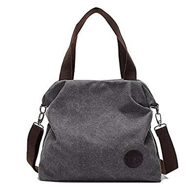 Mfeo Women Casual Canvas Shoulder Bags Cross-Body Bag Messenger Bag Tote Bags