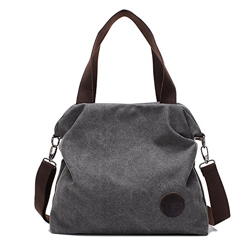 Mfeo Women Canvas Shoulder Bags Cross-Body Bag Messenger Bag Tote Bags Handbag