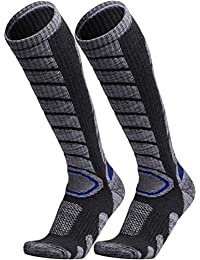 Ski Socks 2 Pairs Pack for Skiing, Snowboarding, Cold Weather, Winter Performance Socks