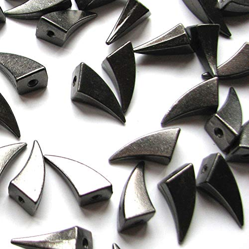 RUBYCA 17MM 10pcs Black Gunmetal Dragon Claw Spike and Studs Metal Screw-Back Spots Leather-craft DIY Punk Leather ()
