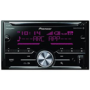 Pioneer Double DIN CD Receiver with Enhanced Audio Functions, Improved Pioneer ARC App Compatibility, MIXTRAX, Built-in Bluetooth, and SiriusXM-Ready FH-S700BS
