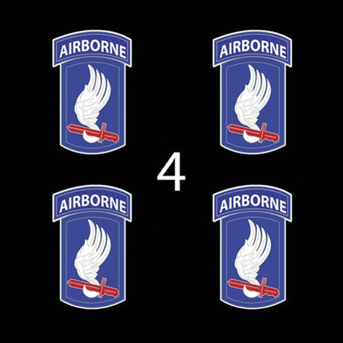 """US Army 173rd Airborne Brigade SSI 3"""" (4)Four Decal Sticker Lot"""