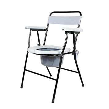 ZHANGQI Sillas con Inodoro Plegable Old Commode Chair ...