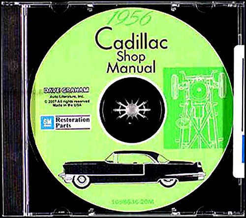 1956 Cadillac Shop Manual Cd Deville Eldorado Series 62 75 86 60 Special Repair Car  U0026 Truck