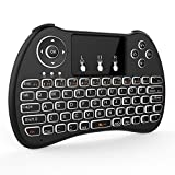 H9 Mini Wireless Keyboard Black with TouchPad Air Mouse Remote for Android TV BOX, Emporium Expo
