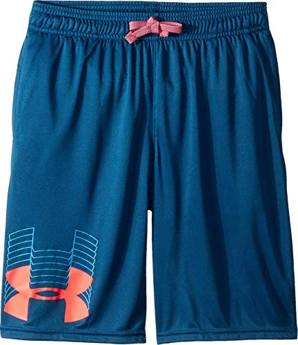 Price comparison product image Under Armour Boys' Prototype Logo Shorts,  Petrol Blue (438) / Red Rage,  Youth Small