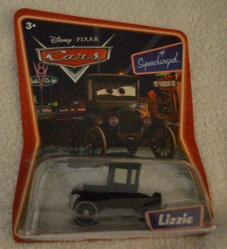 Disney Pixar Cars Lizzie Supercharged Background Card Edition 1:55 scale Mattel Car