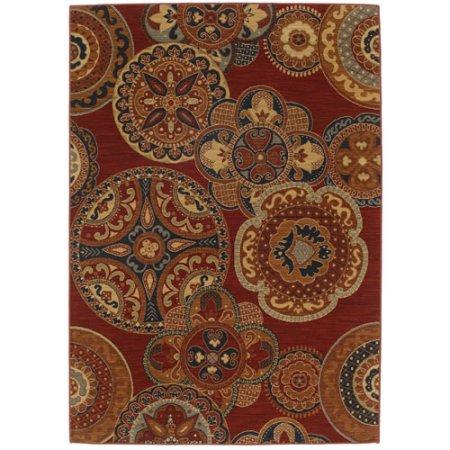 Karastan Karastan English Manor Chesterfield Rug, Red, Wool, 5.5 x 8 ft. (Manor English Karastan)