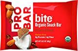 PROBAR - bite Organic Energy Bar - Coconut Almond - USDA Organic, Gluten-Free, Non-GMO Project Verified, Plant-Based Whole Food Ingredients, 6g Protein, 4g Fiber - Pack of 12