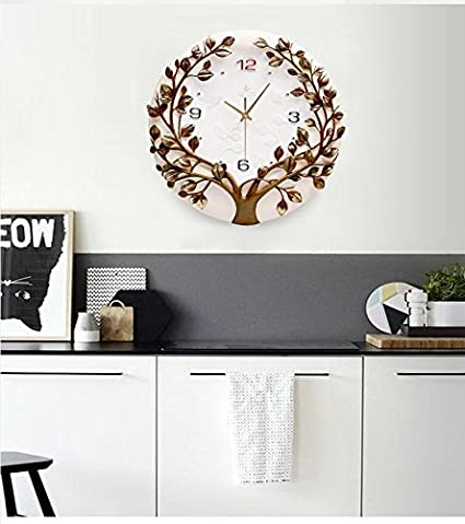 JIN@ Modern and simple 3D hand-painted noiseless single-sided wall clock/