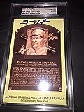 Trevor Hoffman Signed Official Baseball HOF Plaque Postcard Slab #2 - PSA/DNA Certified - MLB Cut Signatures