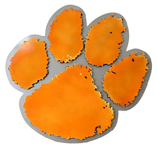 Gear New Clemson University Paw 3D Vintage Metal College Man Cave Art, Large, Orange/Silver by Gear New (Image #1)