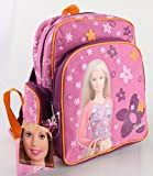 The New Barbie 12 Medium Size Girls School Backpack Kids with Free Water Bottle