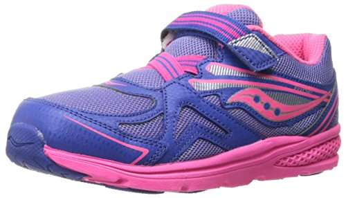 Saucony Baby Ride Sneaker (Toddler/Little Kid), Periwinkle/Pink, 7 M US Toddler