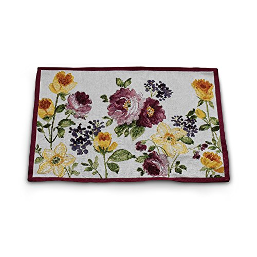 - Homvare Tapestry Set of 6 Placemats - Rose Garden