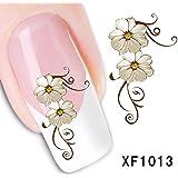 BESTIM INCUK Flower Nail Art Stickers Decal Water Transfer Manicure Decoration