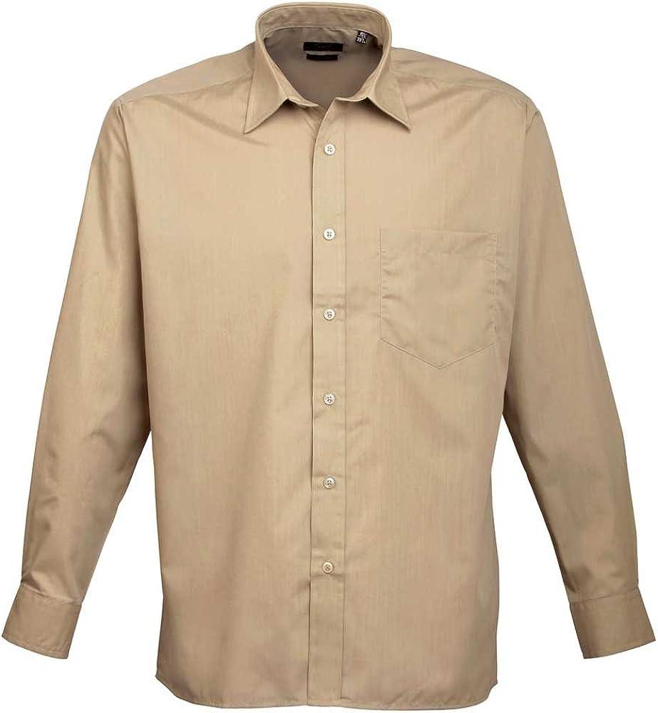 Premier Workwear Mens Long Sleeve Poplin Shirt