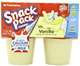 Snack Pack Vanilla Pudding Cups, 4 Count