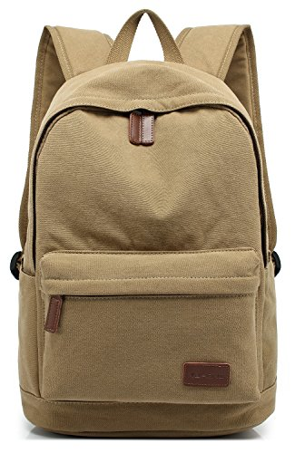 Canvas Khakis - KAYOND Casual Style Lightweight canvas Laptop Bag/Cute backpacks /School Backpack (Khaki)