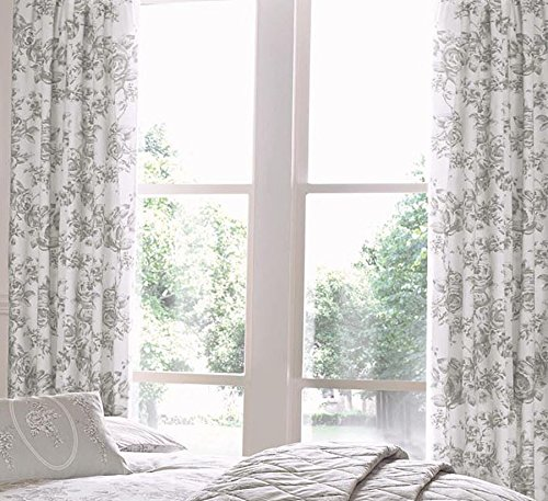 FLORAL TOILE ROSE GREY 66X72
