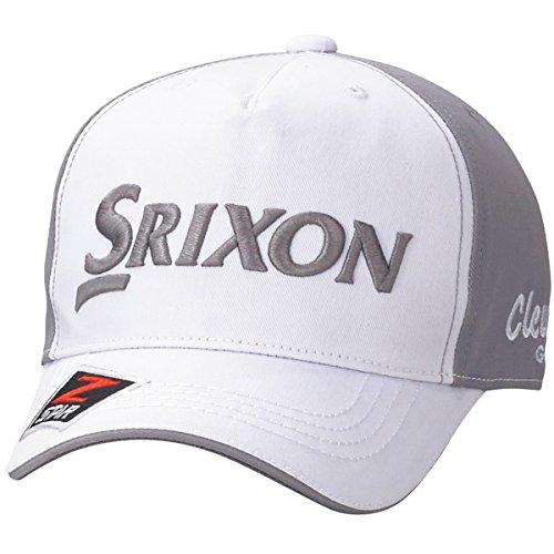 DUNLOP(ダンロップ) SRIXON 5方型キャップ  SMH7132X ホワイトグレー