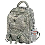 Digital Camo Water-repellent Backpack with Mesh Water Bottle Holder on Each Side, Bags Central