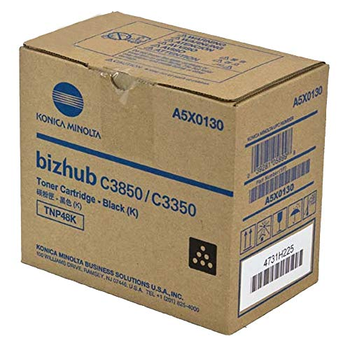 Genuine Konica Minolta TNP48 Black Toner for Bizhub C3350 C3850 ()