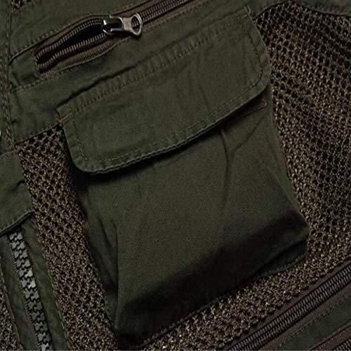 Multi Tailles Net De Air Photographie Âge Multiracial Confortables Hx Armygreen Hommes Photographes Pêche Plein Mâle poche Mode Gilet Milieu En Vêtements ZqEwIwYv