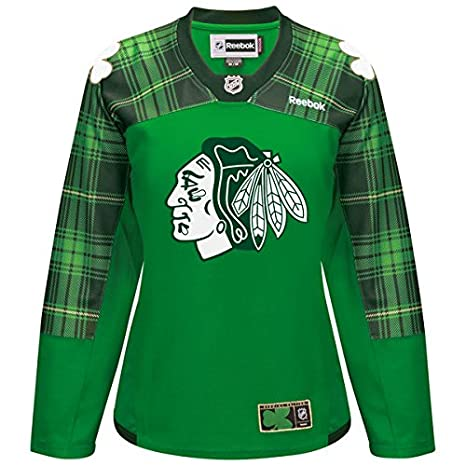 Women s Chicago Blackhawks Reebok Green St. Patrick s Day Replica Special  Edition Jersey ... 4d4909738