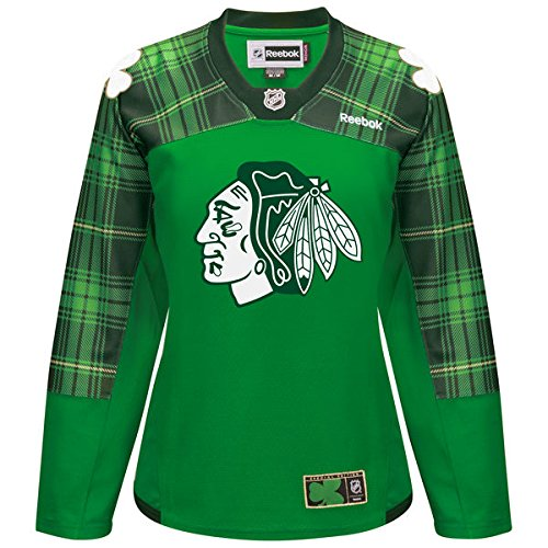 Women's Chicago Blackhawks Reebok Green St. Patrick's Day Replica Special Edition Jersey -