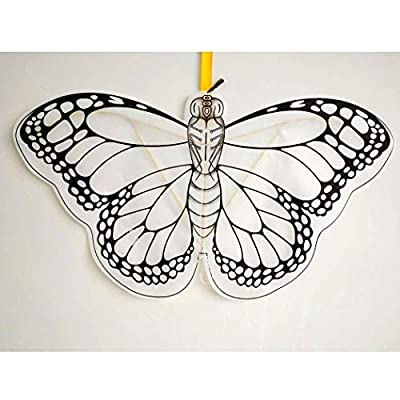 Coxeer DIY Kite, 3PCS Kids Kite Owl Butterfly Blank Coloring DIY Flying Kite with Reel and Line: Home & Kitchen