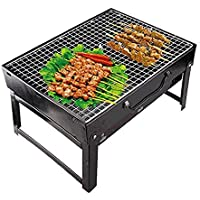 Royal Charcoal BBQ Grill Oven Set (Black, 4-Pieces, Metal)