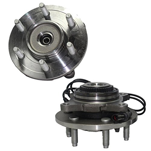 Detroit Axle - Front Driver and Passenger Side Wheel Hub and Bearing Assembly fits 2003 2004 2005 2006 Ford Expedition Lincoln Navigator 4x4 Only ()
