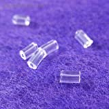 100 Clear Earring Back Ear Nuts Stoppers Cylinder