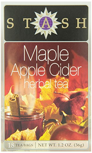 Stash Tea Teabags, Maple Apple Cider, 18 Count (Pack of 6)