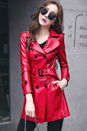 2018 new winter Haining leather leather Girls long paragraph Slim Korean women windbreaker jacket real fur for women girl