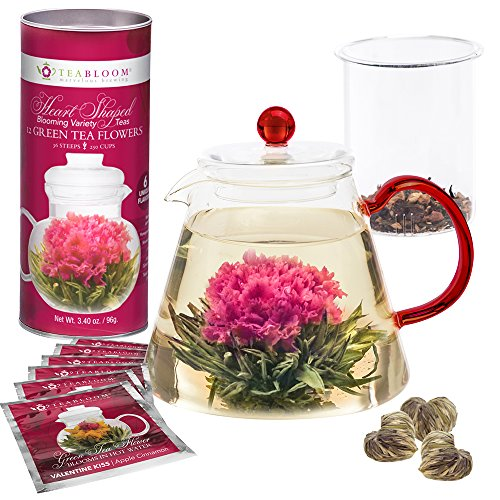 Teabloom Flowering Tea Set - 34 Oz Red G - Flowers And Gifts Shopping Results