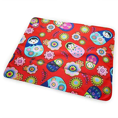 (Portable Changing Pad, Russian Matryoshka Nesting Dolls Bright Portable Diaper Changing Pad - Makes Any Surface A Changing Station - Great for Baby Showers - Ideal for Your Infant, Newborn Or Toddler)