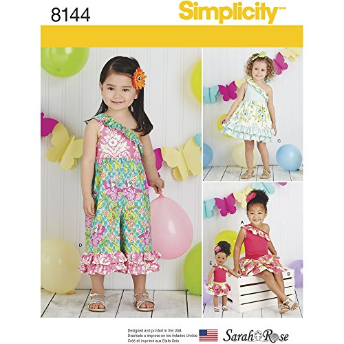 "UPC 039363581444, Simplicity Creative Patterns Simplicity Pattern 8144 Toddlers' Fabric Mixed Outfits, and 18"" Doll Clothes, Size: A (1/2-1-2-3-4)"