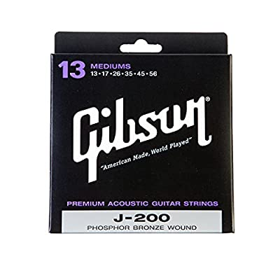 Gibson Gear SAG-J200 Coated Phosphor Bronze Acoustic Guitar Strings, Medium