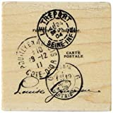 Inkadinkado Mounted Rubber Stamp K-Paper Artsy Tre'port Postal 2''X2''