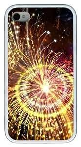 meilz aiaiiphone 4 case design Pyrotechnics TPU White for Apple iPhone 4/4Smeilz aiai