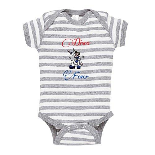 Cute Rascals Disco Fever Baby Kid Stripe Fine Jersey Bodysuit Grey Newborn