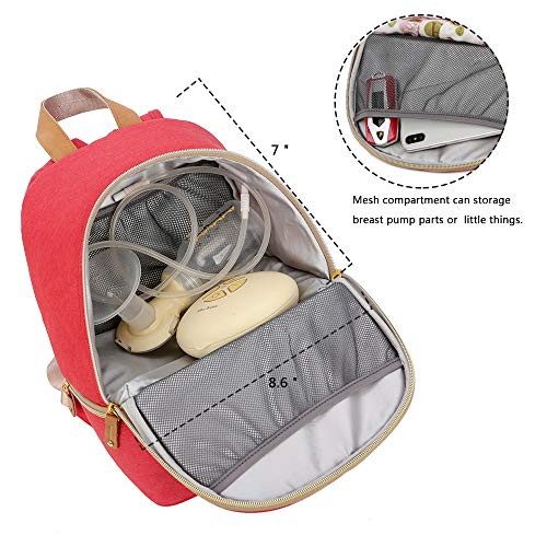 Breast Pump Bag Backpack - Cooler and Moistureproof Bag Double Layer for Mother Baby Bottle Breast Milk Pump Breastfeeding Outdoor Working Backpack (Green)