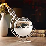 Creative Weather Forecast Crystal Revolving Globe Shape Storm Glass Home Decor Christmas Gift with Base